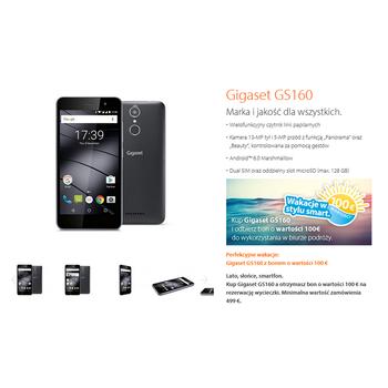 "SMARTFON DUAL SIM GIGASET 5,0"" ANDROID 6.0 ( MARSHMALLOW ) GS160"