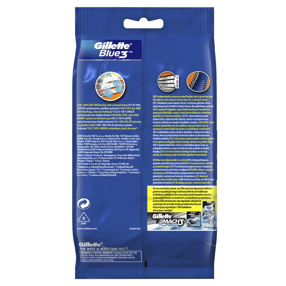 GILLETTE BLUE3 MASZYNKA DO GOLENIA 9+3 SZT GRATIS (BLISTER)