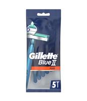 GILLETTE BLUE II PLUS MASZYNKI JEDNORAZOWE DLA MĘŻCZYZN, 5 SZTUK