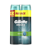 GILLETTE MACH3 SENSITIVE ŻEL DO GOLENIA 2X200 ML