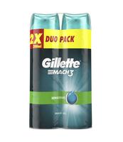 GILLETTE MACH3 SENSITIVE ŻEL DO GOLENIA 2X200 ML