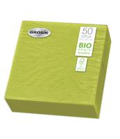 GROSIK SERWETKI DWUWARSTWOWE LIMONKOWE 33 CM X 33 CM 50 SZTUK