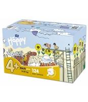 PIELUSZKI HIGIENICZNE DLA DZIECI BELLA BABY HAPPY ROZMIAR MAXI PLUS '4+' 9-20KG BOX 124SZT.
