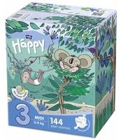 PIELUSZKI HIGIENICZNE DLA DZIECI BELLA BABY HAPPY ROZMIAR MIDI '3' 5-9KG BOX 144SZT.