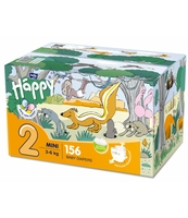 PIELUSZKI HIGIENICZNE DLA DZIECI BELLA BABY HAPPY ROZMIAR MINI '2' 3-6KG BOX 156SZT.