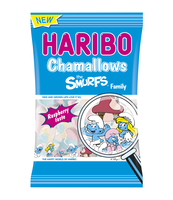 HARIBO PIANKI OWOCOWE CHAMALLOWS THE SMURFS FAMILY 175 G