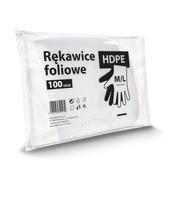 HDPE RĘKAWICZKI FOLIOWE M/L 100SZT