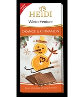 HEIDI CZEKOLADA WINTER DELIGHT ORANGE & CINNAMON 90G