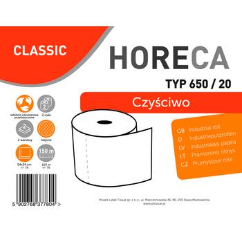 CZYŚCIWO HORECA CLASSIC TYP 650/20 2 ROLKI