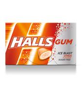 HALLS GUM MANDARIN 18G
