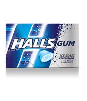 HALLS GUM PEPERMINT 18G