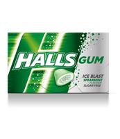HALLS GUM SPEARMINT 18G