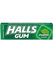 HALLS GUM SPEARMINT STICKS 14G