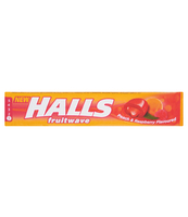 HALLS FRUITWAVE PEACH&RASPBEERY 45G