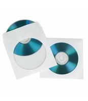 ETUI NA PŁYTY CD/DVD HAMA 25 SZT. PAPIEROWE BIAŁE