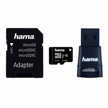 KARTA PAMIĘCI MICROSDHC HAMA 32GB C10 UHS-I SET