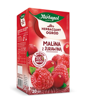 HERBACIANY OGRÓD HERBATKA OWOCOWA MALINA Z ŻURAWINĄ 20TB/54G