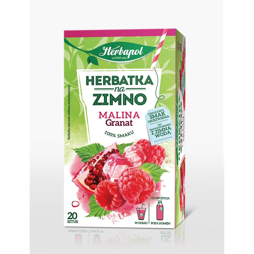 HERBAPOL HERBATKA NA ZIMNO MALINA GRANAT 20TB/36G