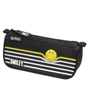 PIÓRNIK HERLITZ KOSMETYCZKA SPORT SMILEY HAPPY BLACK&YELLOW STRIPES