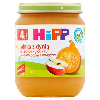 HIPP BIO JABŁKA Z DYNIĄ PO 4. MIESIĄCU 125 G