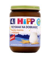 HIPP BIO PRZYSMAK NA DOBRANOC KASZKA MANNA Z MLEKIEM PO 4. MIESIĄCU 190 G
