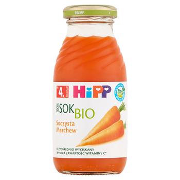 HIPP BIO SOK 100% SOCZYSTA MARCHEW PO 4. MIESIĄCU 0,2 L