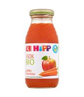 HIPP BIO SOK JABŁKO-MARCHEW, PO 4. M-CU, 200 ML