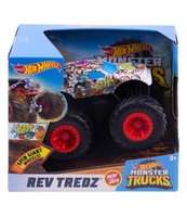 HOT WHEELS MONSTER TRUCKS POJAZD REV TREDZ 1:43 AST. FYJ71