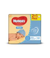 HUGGIES 3X56SZT PURE 2+1 CHUSTECZKI NAWILŻANE