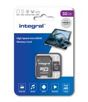 KARTA PAMIĘCI INTEGRAL 32GB MICRO SDHC 100V10, U1 V10 Z ADAPTEREM