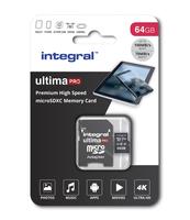 KARTA PAMIĘCI INTEGRAL 64GB MICRO SDXC 70V30, U3 V30 Z ADAPTEREM