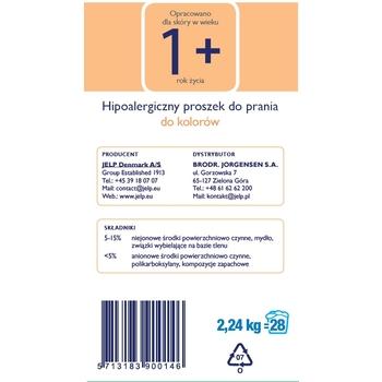 JELP 1+ HIPOALERGICZNY PROSZEK DO PRANIA DO KOLORÓW 2,24 KG