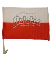 FLAGA POLSKI DO MOCOWANIA NA SZYBĘ SAMOCHODU