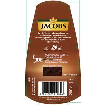 JACOBS VELVET KAWA ROZPUSZCZALNA 200 G