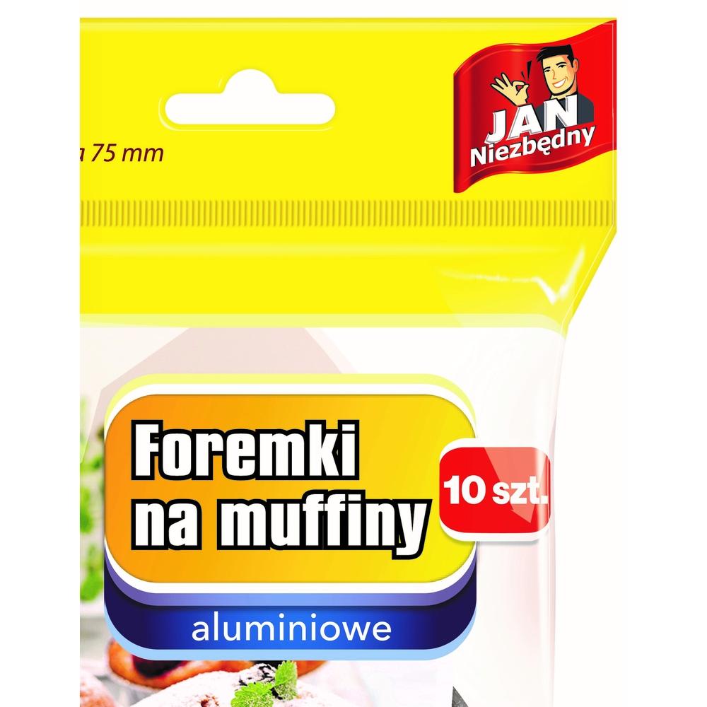 JAN NIEZBĘDNY FOREMKI ALUMINIOWE DO MUFFINEK 10SZT.