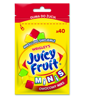 JUICY FRUIT OWOCOWY MIKS 40 MINIDRAŻETEK/28G