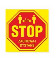 KORFED NAKLEJKI 23X23CM STOP - ZACHOWAJ DYSTANS X5SZT.