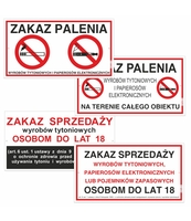 KORFED TABLICZKA DUŻA PLASTIKOWA ZAKAZ PALENIA MIX X 20 SZT.