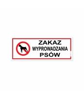 KORFED TABLICZKA MAŁA PLASTIKOWA ZAKAZ WYPROWADZANIA PSÓW X 1 SZT.