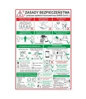 KORFED ZASADY BEZPIECZEŃSTWA PODCZAS EPIDEMII - TABLICA 35X50 CM X 1 SZT.