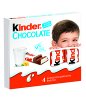 KINDER CHOCOLATE, BATONIK Z CZEKOLADY, 4SZT, 50G