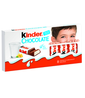 KINDER CHOCOLATE, BATONIK Z CZEKOLADY, 8SZT, 100G