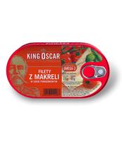 KING OSCAR FILETY Z MAKRELI W SOSIE POMIDOROWYM 170G