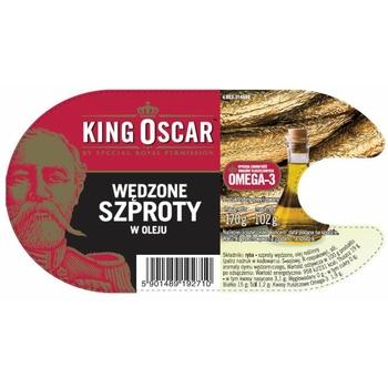 WĘDZONE SZPROTY W OLEJU 170G KING OSCAR