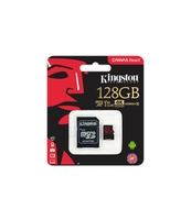 KARTA MICROSD KINGSTON 128GB CANVAS U3 + ADAPTER