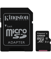 KARTA MICROSD KINGSTON 128GB CLASS10 CANVAS SELECT 80