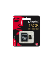 KARTA MICROSD KINGSTON 16GB CLASS10 UHS-I + ADAPTER