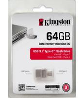 PAMIĘĆ USB KINGSTON DATA TRAVELER MICRODUO 3C 64GB USB 3.1