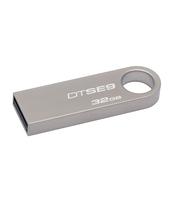PENDRIVE KINGSTON DATA TRAVELER SE9 32GB USB2.0 SILVER METAL