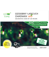 GIRLANDY OGRODOWE FILAMENT LED 10 METRÓW OGR-0017